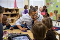 Obama in Pre-K Classroom